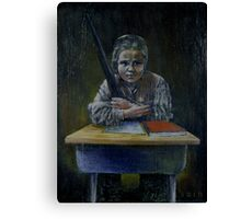Student with a Rifle (2000) Canvas Print
