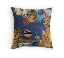 Cat collage 3 Throw Pillow