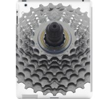 Bike Sprocket on White iPad Case/Skin