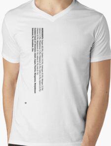 ingredients: Mens V-Neck T-Shirt