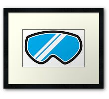 Snow goggles winter Framed Print