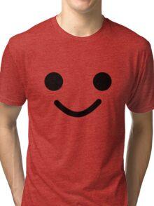 Smiling Minifig Face  Tri-blend T-Shirt