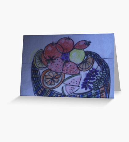 A tasty basket of fruit Greeting Card