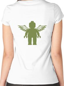 ANGEL MINIFIG Women's Fitted Scoop T-Shirt