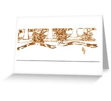 Lord Jesus -abstract Greeting Card
