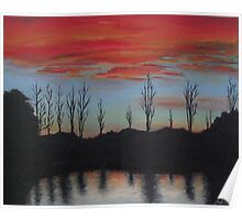 Sunset At Ringwood Lake Poster
