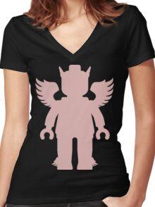 WINGED GREEK GOD  Women's Fitted V-Neck T-Shirt