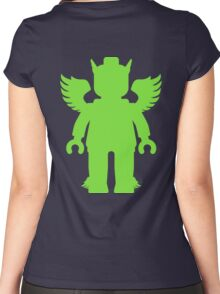 WINGED GREEK GOD  Women's Fitted Scoop T-Shirt