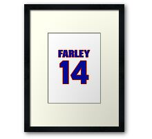 Basketball player Dick Farley jersey 14 Framed Print
