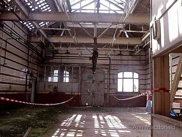Manchester victoria baths derelict washouse by Ann Macdonald