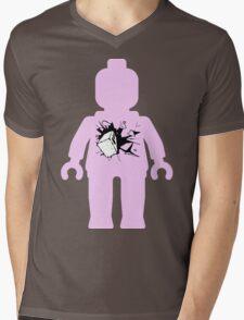 Minifig with Smashing Window Mens V-Neck T-Shirt
