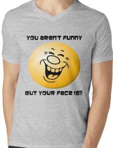 Your Face Mens V-Neck T-Shirt