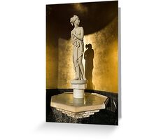 The Marble Lady and Her Shadow Greeting Card