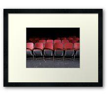 seats Framed Print