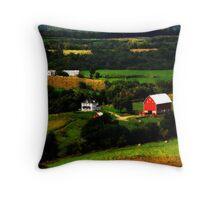 Iowa Countryside Throw Pillow