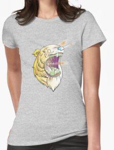 Lazer Bear Womens Fitted T-Shirt