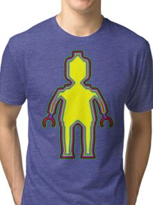 Alien Minifig Xray Tri-blend T-Shirt