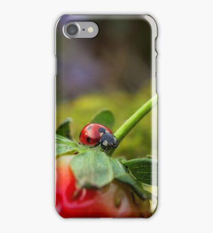 Ladybird on Strawberry iPhone Case/Skin