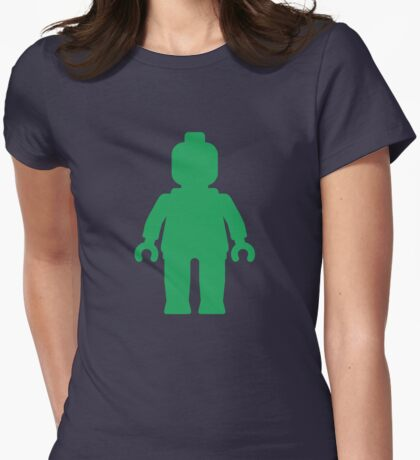 Minifig [Green]  Womens Fitted T-Shirt