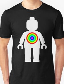 White Minifig with Rainbow Target T-Shirt