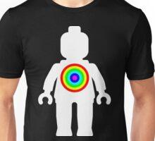 White Minifig with Rainbow Target Unisex T-Shirt