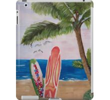 Caribbean Strand with Surfboards iPad Case/Skin