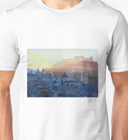 Salzburg Austria at Dusk Unisex T-Shirt