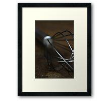 Kitchen Whisk Framed Print