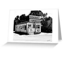 Discount Tobacco Baxter Tennessee  Greeting Card
