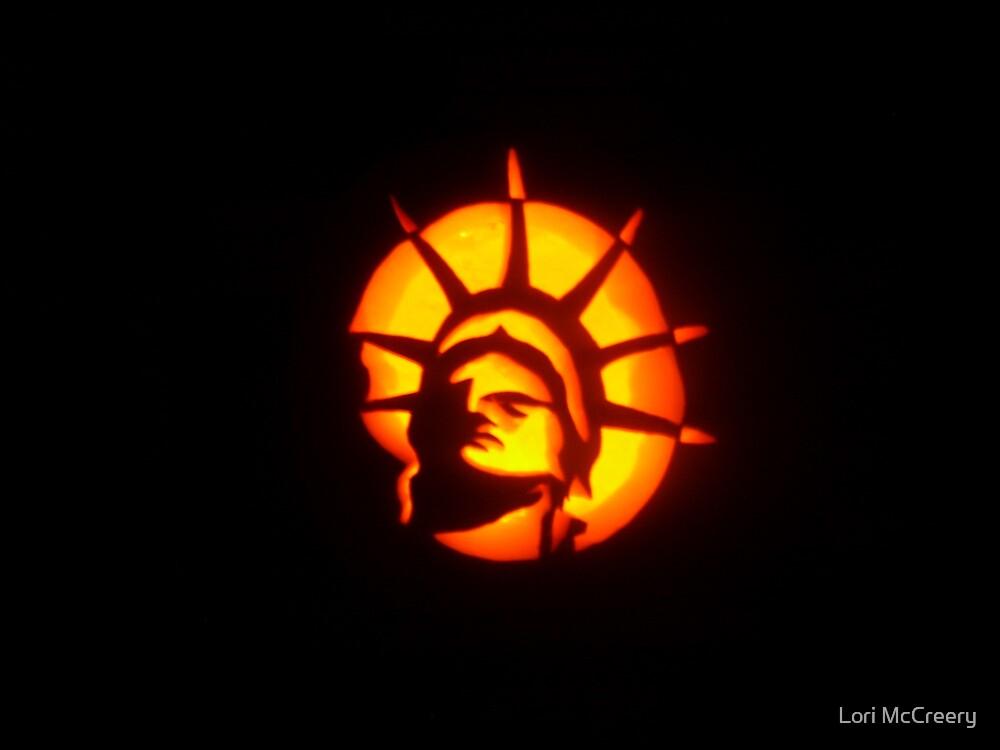 Lady Liberty (A Pumpkin Design) by Lori McCreery