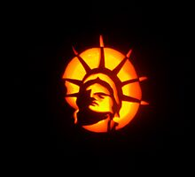 Lady Liberty (A Pumpkin Design) by Lori McCreery