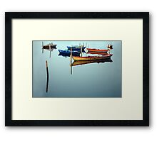fishing boats in Mesolonghi Framed Print