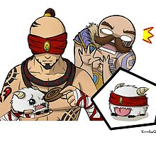 Lee Sin and Braum League of Legends by LuigiP
