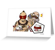Lee Sin and Braum League of Legends Greeting Card