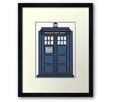 Doctor Who Tardis doors Framed Print