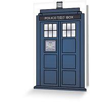 Doctor Who Tardis doors Greeting Card