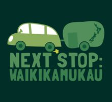 NEXT STOP: Waikikamukau funny fake Kiwi New Zealand travel destination by jazzydevil