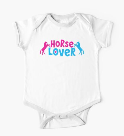 Horse lover with rearing ponies One Piece - Short Sleeve