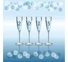 Champagne toast cups Photographic Print