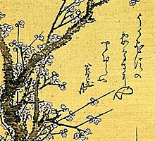 'Flowering Plum' by Katsushika Hokusai (Reproduction) by Roz Abellera Art