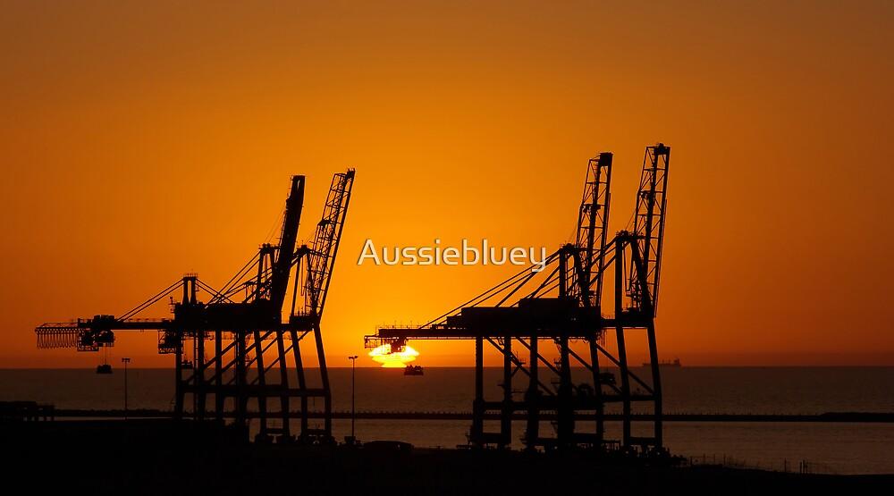 Crane Silhouettes. by Aussiebluey
