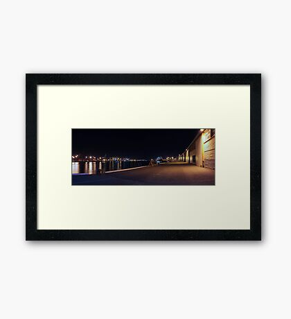 Fremantle Docks At Night Panorama  Framed Print
