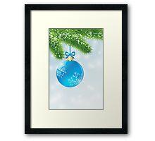 Christmas Blue Ball Framed Print