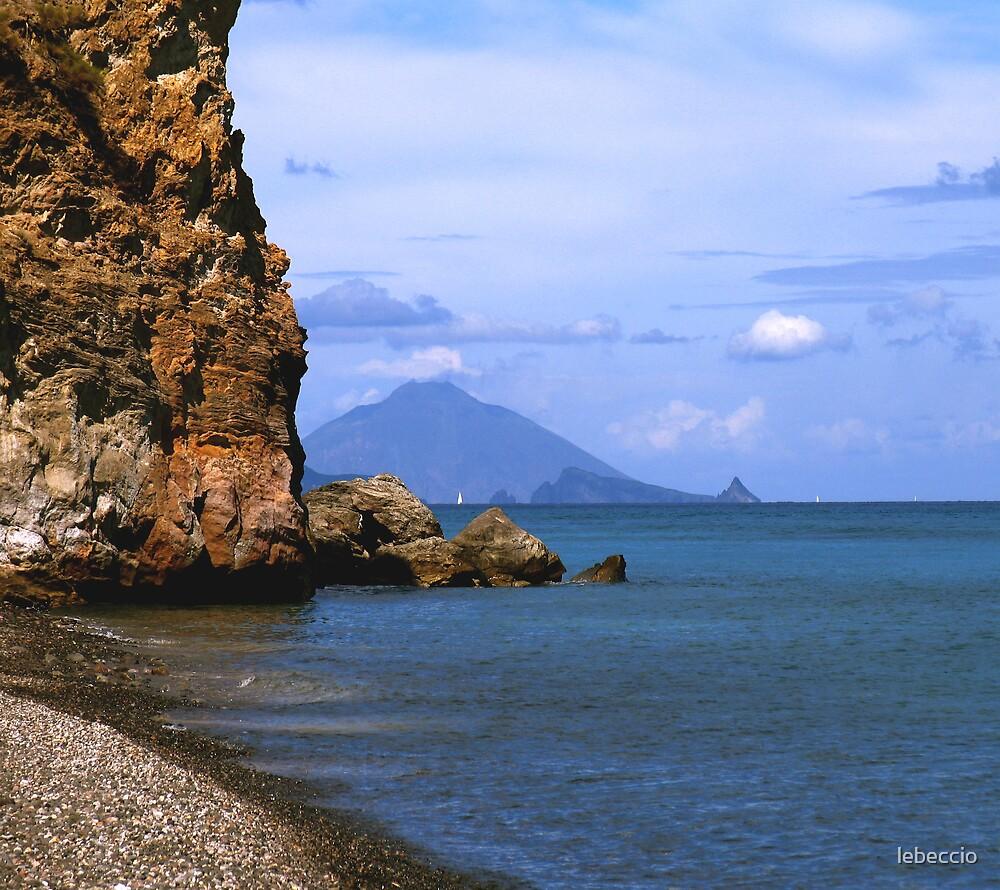 View of Stromboli by lebeccio