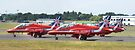 The Red Arrows Panoramic by Nigel Bangert