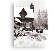 Mt. Baldy Cabin in a Snowstorm Canvas Print