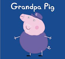 Grandpa Pig Throw Pillow/Tote Bag by Russ Jericho