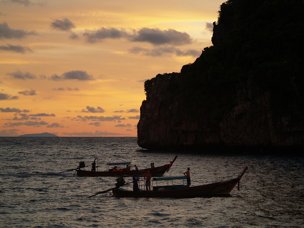 Phi Phi Island Boats by focus