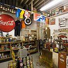 Garage on Route 66 by Bob Estrin