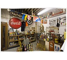 Garage on Route 66 Poster